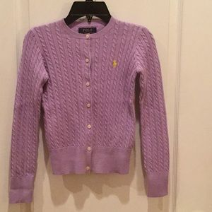 Ralph Lauren Polo Girls Lilac Sweater